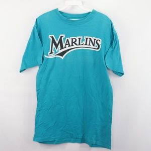 Vintage Majestic Florida Marlins Baseball Shirt M
